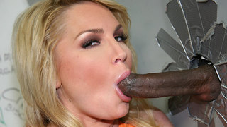 Flower Tucci Flower Tucci is known,of course,for her abundant tushy,but she also is famous for the levels of depravity she will sink to. This is why the mere mention of a fuctioning gloryhole leaves her panties dripping wet,and probably on the floor befor