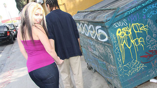 Chantell is outside chatting with her boyfriend,who incidentally looks a lot like Snoop,when she coyly asks him if he would be offended if she wanted to fuck,not just him,but a crew of the homies,in other words,she was dreaming about a black dick gangbang