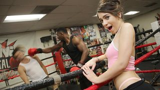 Poor Joseline Kelly. She doesnt know whats worse: having to take a self-defense class to ward off the sexual predators at her work place...or her wimpy husband,who cant do the job for her. So there she is,Joseline,on a Saturday afternoon,in a boxing club,