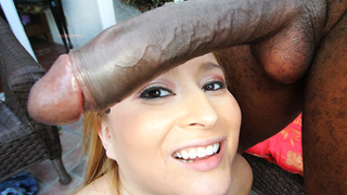 This is it. We have a very beautiful Columbian on MonstersofCock...Finally! This girl is so cute and she has those bedroom eyes when she sucks dick too.  Her name is BlissDulce and she is fucking beautiful. She has the honor of getting fucked by the one a