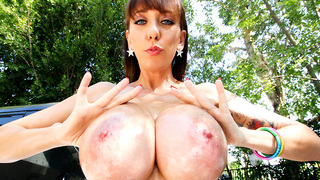 Welcome to another great update on Big Tits Round Asses. We have Alia Janine, this chick is smoking hot, and ready to get dick any way possible. Alex can barely contain himself after seeing how amazing her body looks with those huge titties and fat juicy