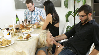 Stunning mom India Summer is cooking up a storm. Her stepson Logan Long finds the pie India has made and decides to have some fun with it. Poking his finger into the crust gives him some ideas. Soon he has pushed his hardon into the soft filling to fuck t