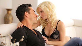 Piper Perri is occupying herself with her cell phone while Ryan Driller reads on the couch beside her, but this horny hottie isn't willing to be ignored for long. Finding Ryan receptive to her advances, Piper soon gets his cock out of his jeans so that sh