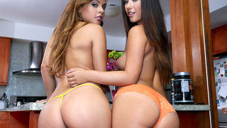 Hey people this week on assparade we have these two badass white girls oiled up and dicked down. In tdays feature we have Keisha Grey & Eva Lovia. I promise your gonna love watchin these phat ass ladies work.