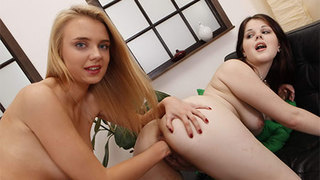 Horny teen lesbo playing a relentlessly dirty game