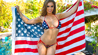 Happy Fourth of July, Skeeters! This year we are lucky enough to spend the day with the busty and bubbly Lena Paul who has plenty ideas of how we can have the best damn 4th ever. Everything she does is in a tiny little bikini that is no match for her humo
