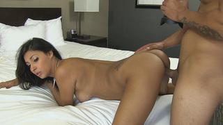 jessica blows hot kisses and a massive cock